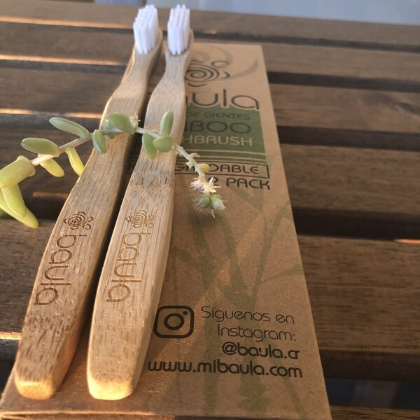 Cepillo de dientes de bambú. (Reproducción EF)