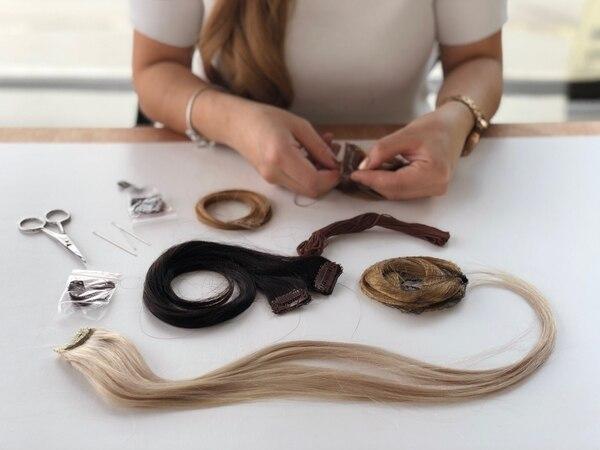 El cabello proviene de la India. Foto: Extenclip para EF.