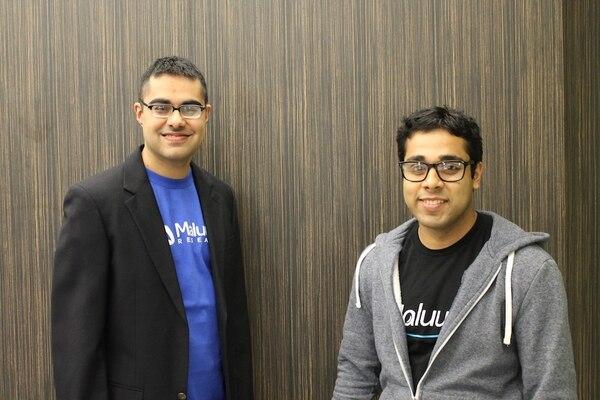 Los fundadores de la startup Maluuba: Kaheer Suleman, que ocupaba el cargo de Chief Technology Officer (CTO), y Sam Pasupalak, que era el Chief Executive Officer