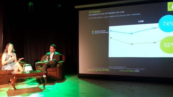 Viviana Gálvez fue la encargada de presentar los resultados del estudio la mañana de este jueves en Plazo Tempo, Escazú.