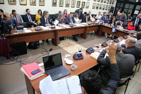 04/09/2018 Asamblea Legislativa. Comisión de Reforma Fiscal. Foto: Rafael Pacheco