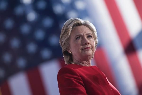 Hillary Clinton durante un mitin en la Universidad de Pittsburgh este lunes.