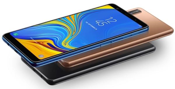 El Galaxy A7 cuenta con una pantalla de full HD de seis pulgadas, 4 GB de memoria RAM, memoria interna de 64 GB expandible.