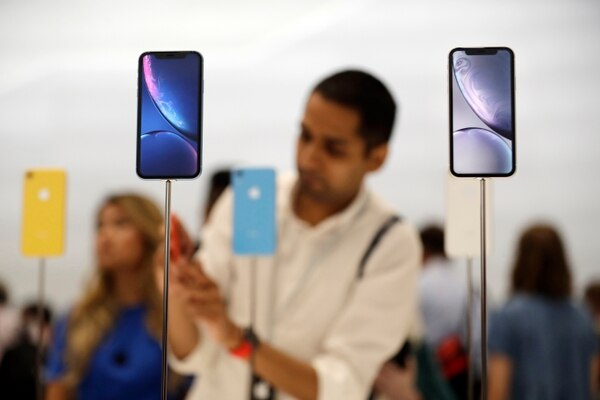 The new iPhone XR is displayed at Apple headquarters during an event to announce new products Wednesday, Sept. 12, 2018, in Cupertino, Calif. (AP Photo/Marcio Jose Sanchez)