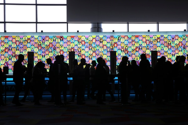 A photo provided by Shoptalk shows retail and technology workers at the annual Shoptalk conference in Las Vegas, March 3, 2019. The message from the conference: expect more stores to incorporate the kind of digital data collection that has powered the online world. (Shoptalk via The New York Times) — NO SALES; FOR EDITORIAL USE ONLY WITH NYT STORY SHOPPING OUTLOOK BY SAPNA MAHESHWARI FOR MARCH 11, 2019. ALL OTHER USE PROHIBITED. —
