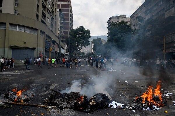 Las movilizaciones, que no cesan desde enero cuando Guaidó se autoproclamó presidente encargado, cuentan ahora con un factor inquietante, los