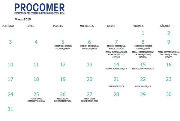 Costa Rica asistirá a ocho ferias internacionales en primer cuatrimestre