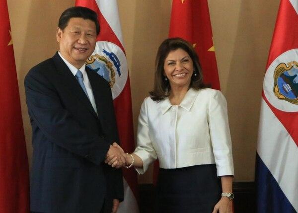 Los presidentes, Laura Chinchilla, de Costa Rica; y Xi Jinping de China, firmaron convenios en materia de cooperación.