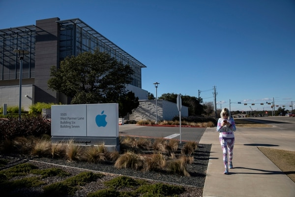 El campus actual de Apple en Texas. Compañías gigantes, como Apple, Google y Amazon están saliendo cada vez más de sus confines en la Costa Oeste. Fotografía: Tamir Kalifa, The New York Times