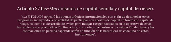 Mecanismos de capital semilla y capital de riesgo
