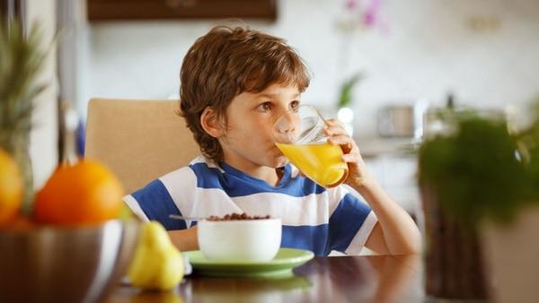 El desayuno representa un 25% del aporte energético diario requerido en los menores.