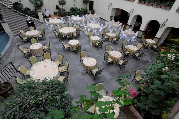 Vista de un patio interno del Hotel La Condesa.