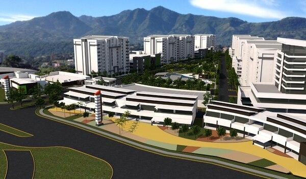 Así lucirá el complejo Torres Heredia, proyecto que constará de nueve torres con 1.280 apartamentos, 3.900 metros cuadrados para comercio y oficinas y se ubicará frente a la Zona Franca Metropolitana.