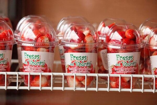 Las fresas en esta presentación se ofrecen hace un año.