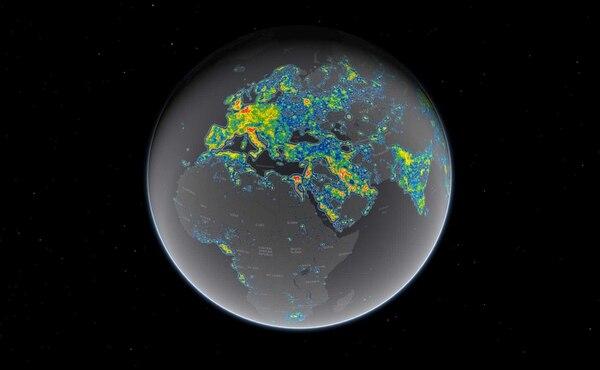 Un tercio de la población mundial —incluidos el 80% de los norteamericanos y el 60% de los europeos— no pueden ver la Vía Láctea debido a la contaminación lumínica producida en los países más desarrollados por las luces artificiales.