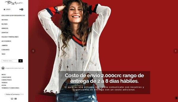 BogaSpaccio Boutique tiene la tienda física en Cartago y vende ropa importada de Estados Unidos.