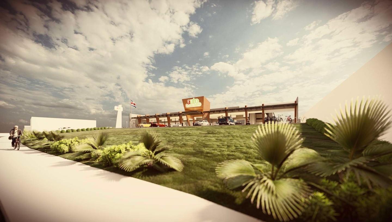 La maqueta de lo que será el Auto Mercado en Cartago, con apertura prevista en el segundo semestre del 2022. Estará ubicado en el Bulevar El Molino, sobre Calle 18. Foto: Cortesía