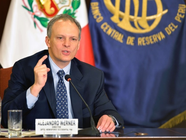El Director del Departamento del Hemisferio Occidental del FMI, Alejandro Werner ofreció una conferencia de prensa en el Banco Central de la Reserva, en Lima.