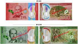 Nuevos billetes de ¢1.000 y ¢10.000 circularán a partir del 15 de octubre