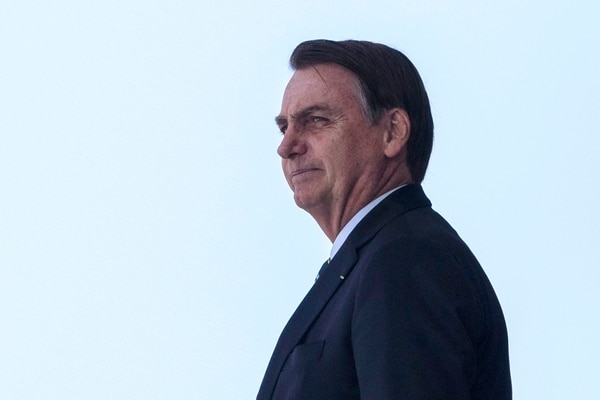El presidente de Brasil, Jair Bolsonaro, recibió al presidente de Paraguay, Mario Abdo, en Brasilia el 12 e marzo del 2019. Foto: AFP
