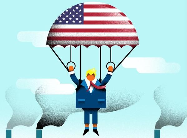 23/11/2017, Ilustración del plan fiscal de Donald Trump, presidente de Estados Unidos. Dominick Baltodano