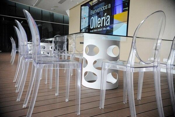 En el centro de innovación Ollería, de Grupo Tribu, no hay espacios de oficina tradicional y cada persona usa la estación de trabajo que se encuentra disponible.