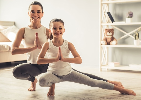 Yoga en familia.