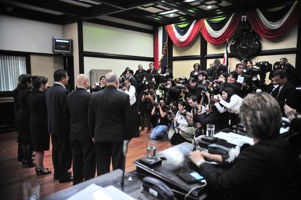 Juramentación del nuevo directorio de la Asamblea Legislativa.