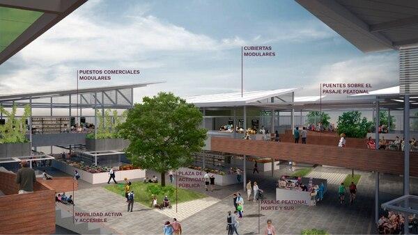 La nueva estructura contará con espacios peatonales (Imagen: cortesía Municipalidad de San José).