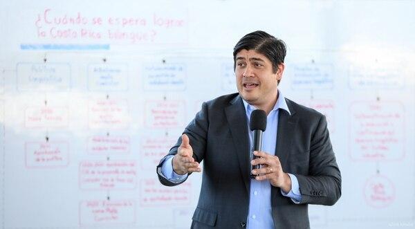 El Gobierno creó una unidad de análisis de datos que reporta los resultados de forma directa al presidente de la República, Carlos Alvarado. Fotografía: Julieth Méndez / Presidencia.