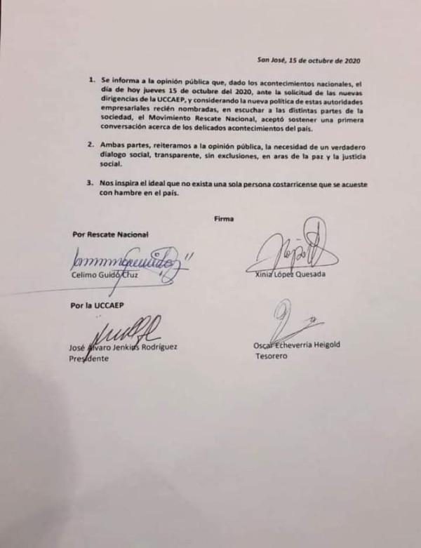 Acuerdo firmado entre Uccaep y