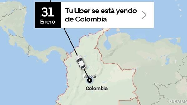 La empresa estadounidense Uber prepara su salida de Colombia tras un fallo judicial que considera arbitrario en su contra. Fotografía: Uber Colombia.