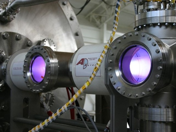 Equipo en las instalaciones de Ad Astra Rocket Company en Liberia, Guanacaste.