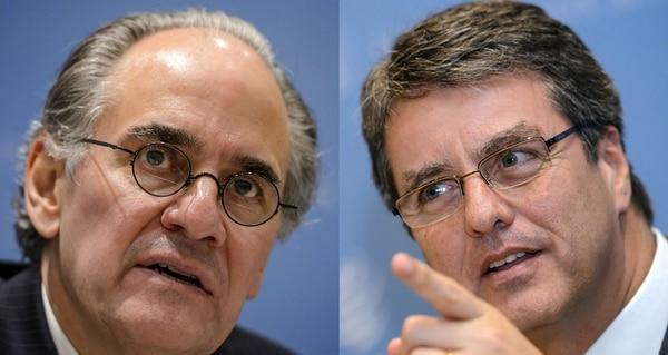 El mexicano Herminio Blanco (izquierda) y el brasileño Roberto Azevedo, serían los dos candidatos finales para dirigir la OMC.