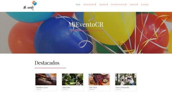 El sitio de eventos ofrece información y contactos de proveedores de servicios para eventos. El cliente interesado se comunica directamente con ellos. (Reproducción EF)