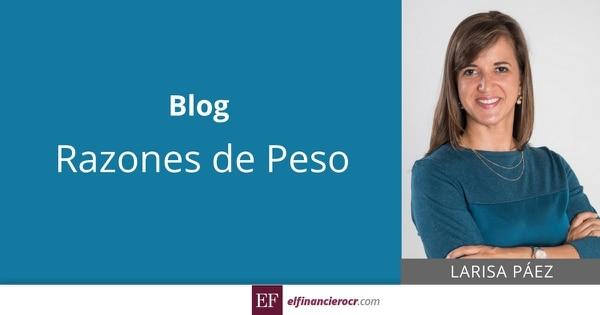 Carátula blog Razones de Peso de Larisa Páez.