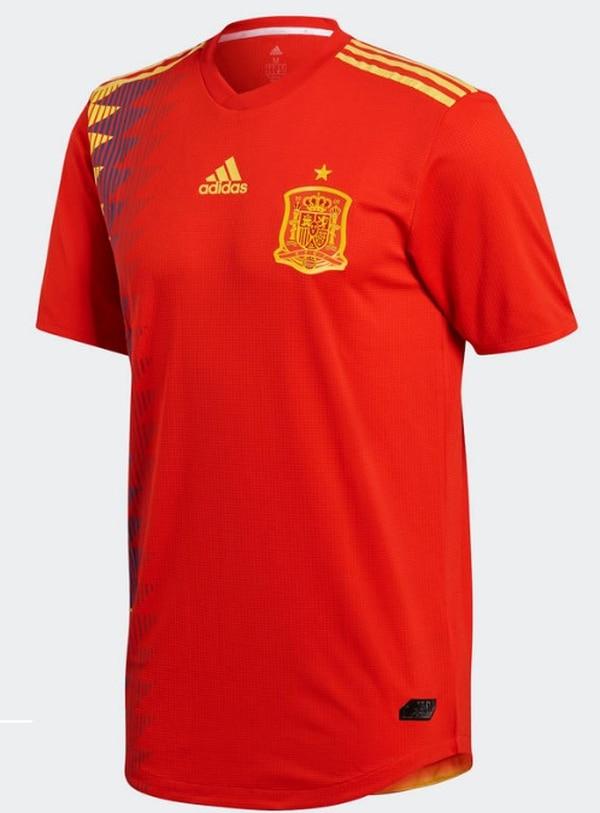 Camiseta del uniforme principal de España para el Mundial de Rusia 2018
