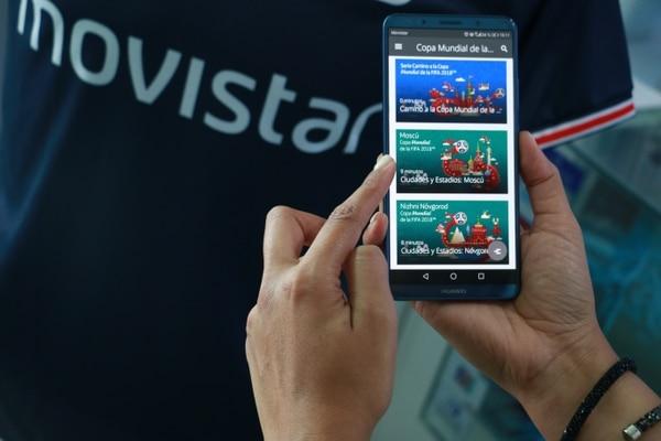 Los usuarios de Movistar podrán ver los 64 partidos a través de la app y solamente si están conectados a la red celular. En redes wifi no se podrá, insistió la compañía. (Foto cortesía Movistar)