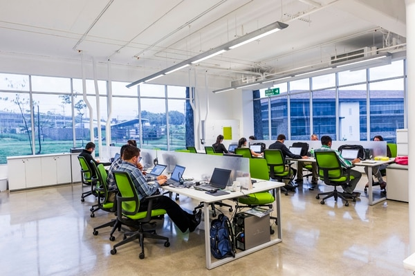 El centro corporativo El Cafetal, que se compone de cuatro edificios, se construyó de manera sostenible.