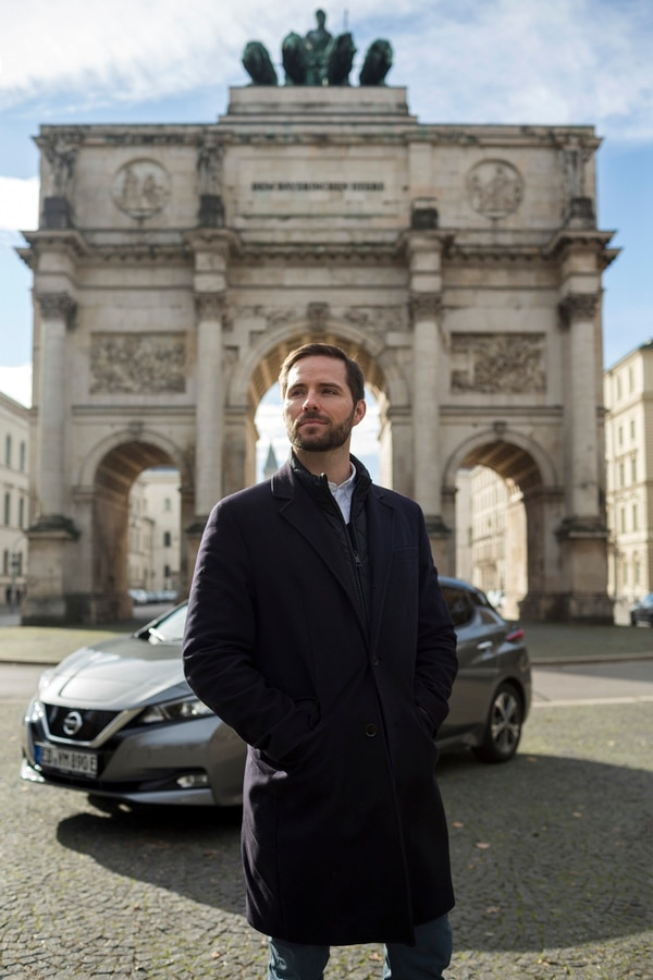 Christoph Weigler, Uber's general manager in Germany, in Munich, Germany, Nov. 5, 2018. Uber retreated from many towns in Germany in 2015 after battling regulators. Now the ride-hailing company has re-entered the city of Düsseldorf. (Louisa Marie Summer/The New York Times)