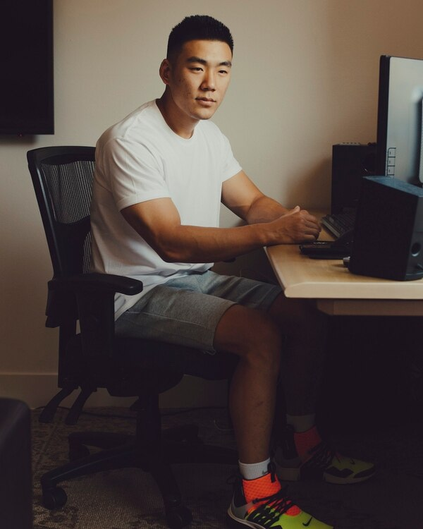 Tony Yoo, a financial analyst, at home in Playa Vista, Calif., Aug. 17, 2018. Yoo invested more than $100,000 of his savings last fall. At their lowest point, his holdings dropped almost 70 percent in value. Despite his investment losses, Yoo said he was still a big believer in the idea that cryptocurrencies can provide a new way to transact online, without big corporate middlemen. (Rozette Rago/The New York Times)