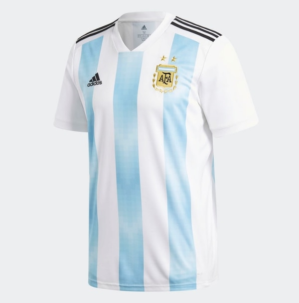 Camiseta del uniforme principal de Argentina para el Mundial de Rusia 2018