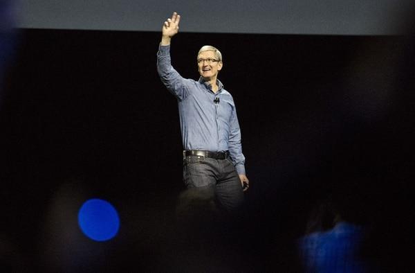 Tim Cook, CEO de Apple, en la inauguración de la conferencia de desarrolladores este lunes en San Francisco, California