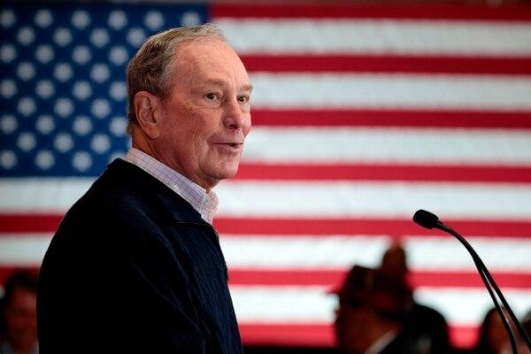 Michael Bloomberg, habla durante un evento para abrir una oficina de campaña en Eastern Market en Detroit, Michigan. Fotografía: AFP.