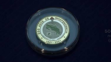 Conozca la nueva moneda de ¢500 conmemorativa del bicentenario que comenzará a circular en noviembre