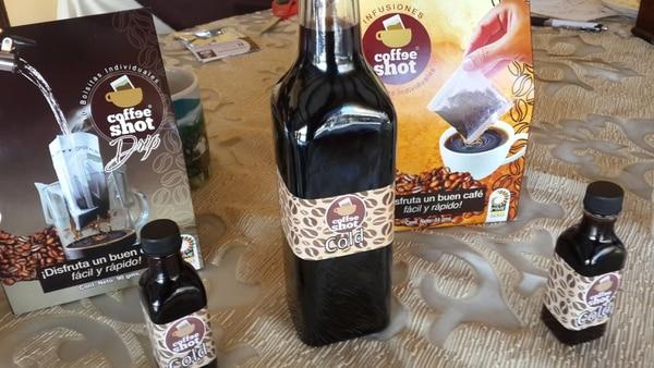 Estos son los productos que vende la empresa Coffee Shot, la cual nació hace tres años y medio.