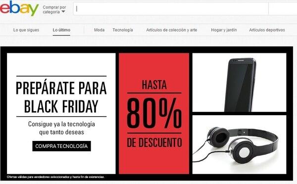 eBay está ofreciendo descuentos de hasta 80% para el viernes negro.