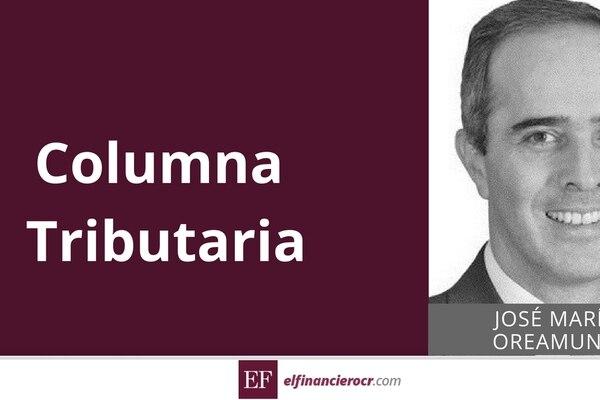 Carátula columna tributaria de José María Oreamuno