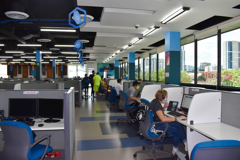 La empresa de servicios de origen francés, Teleperformance, ya tiene 700 colaboradores en Costa Rica. Su sede está en el Boulevard de Rohrmoser, San José. Foto: Cortesía