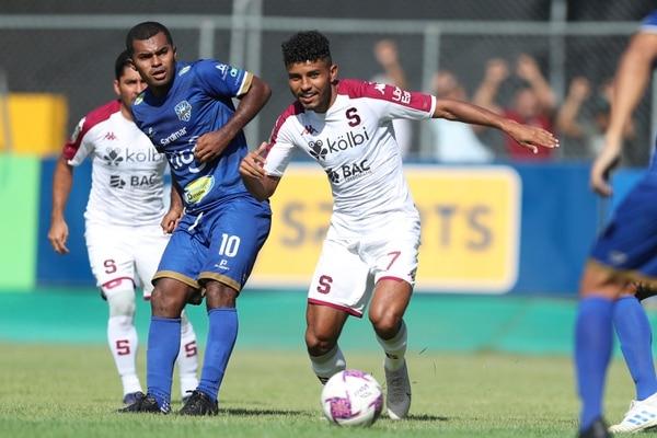 El partido Jicaral y Saprissa, jugado el pasado 12 de febrero, fue transmitido en exclusiva por Tigo Sport. (Foto José Cordero / Archivo GN)